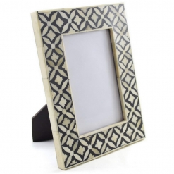 Bone Inlay Photo Frame in Black