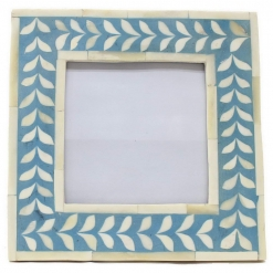 Bone Inlay Photo Frame in Teal