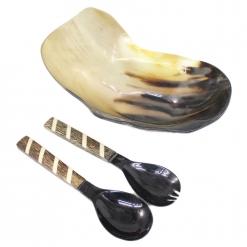Natural Horn Serving Set