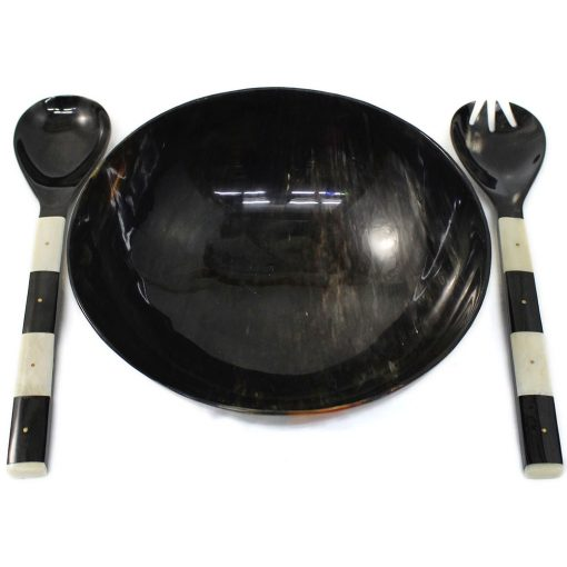 Natural Horn Serving Set