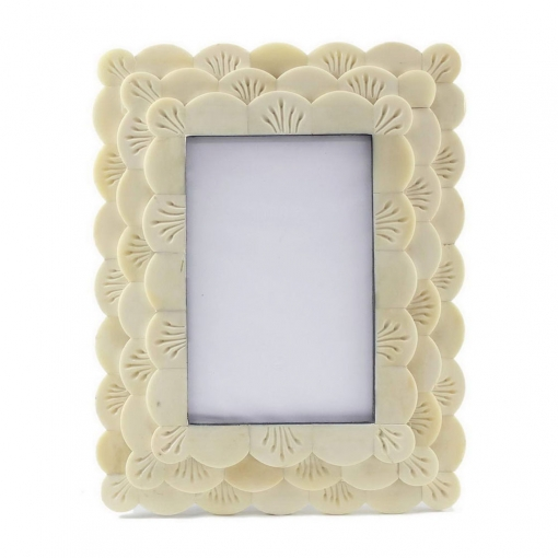 Bone Inlay Photo Frame in Ivory