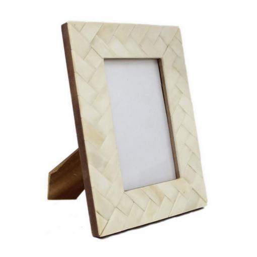 Bone Inlay Photo Frame in Ivory