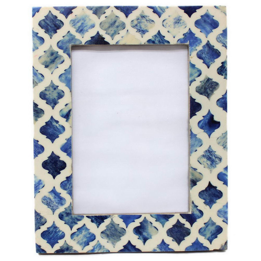 Blue moroccan inlay photo frame roomattic r1215 b blue moroccon inlay photo frame roomattic jeuxipadfo Choice Image