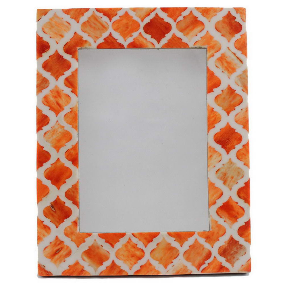 orange moroccan inlay photo frame roomattic