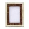 Bone Inlay Photo Frame in Brown/Ivory