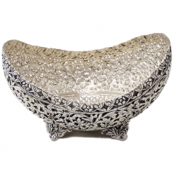 White Metal Decorative Fruit Bowl