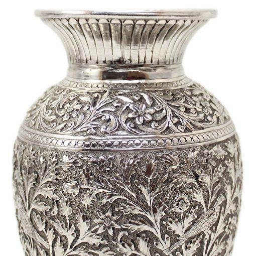 White Metal Decorative Vase