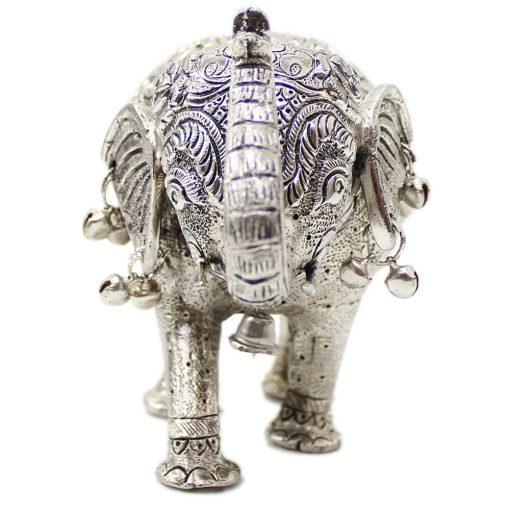 White Metal Decorative Elephants