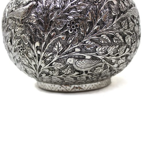 White Metal Decorative Vase