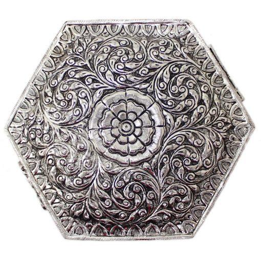 White Metal Decorative Box