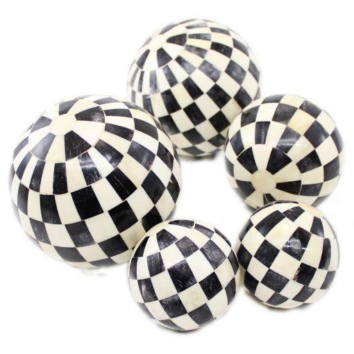 decorative balls black and white