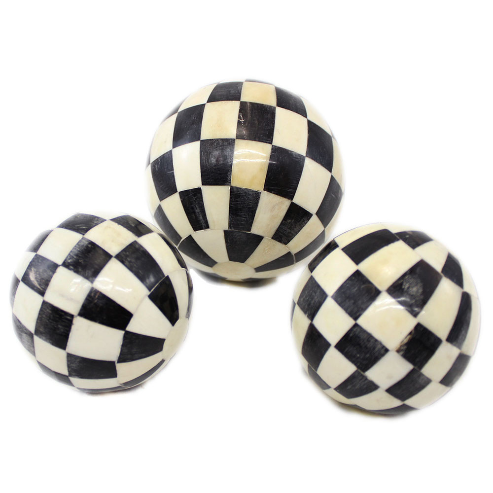 Calla Bone Horn Inlay Decorative Balls Roomattic