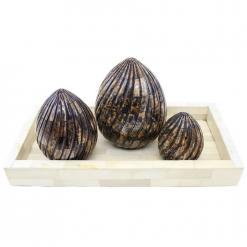Bone Inlay Decorative Eggs