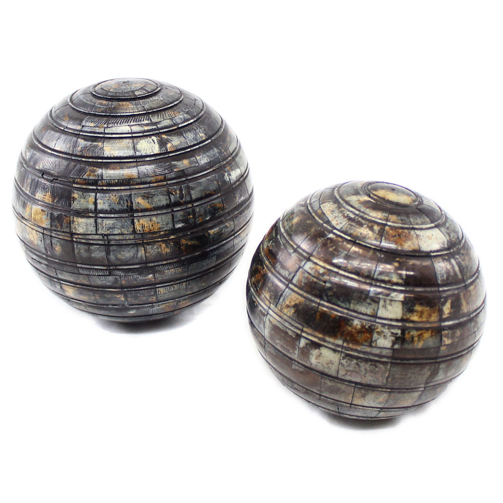 Dael natural horn inlay decorative balls roomattic
