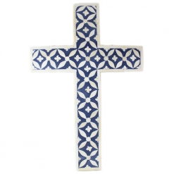 Bone Inlay Decorative Cross