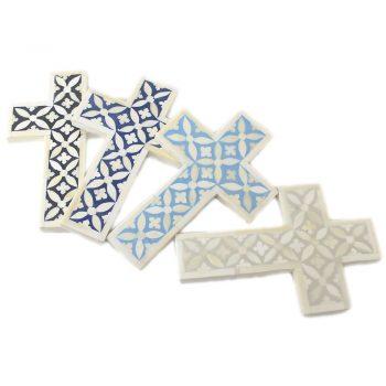 Bone Inlay Decorative Cross