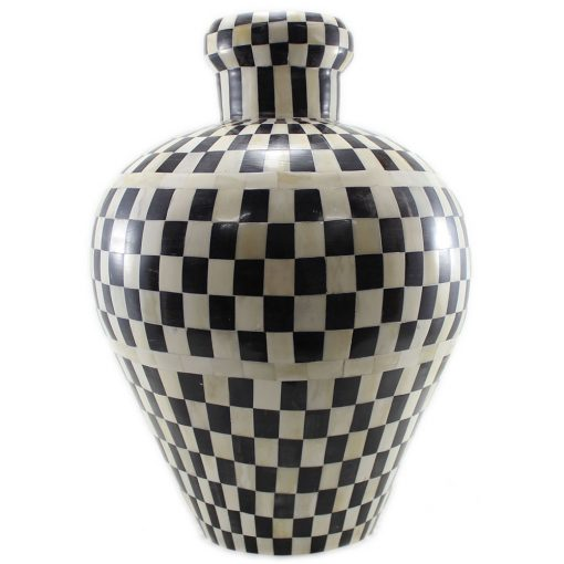 Akeno Decorative Rounded Inlay Vase