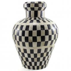 Akeno Decorative Rounded Inlay Vase