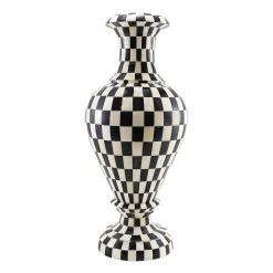 Keva Decorative Checkered Bone Inlay Vase