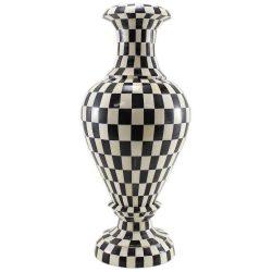 Keva Decorative Checkered Bone Inlay Vase