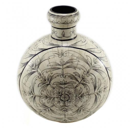 Steve Parker Handpainted Bone Inlay Vase