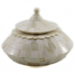 Naava Ivory Color Decorative Lidded Boxes