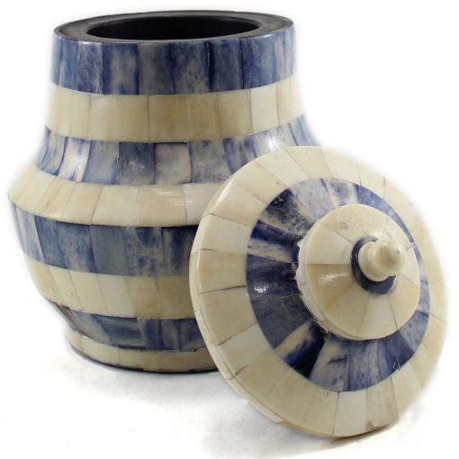 Azure Blue Decorative Urn
