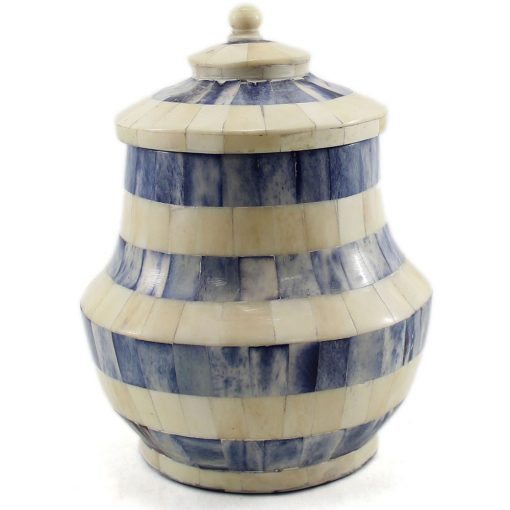 Azure Blue Decorative Urn