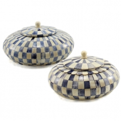 Noya Azure Blue Decorative Lidded Boxes