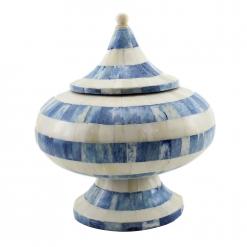 Ramya Azure Blue Decorative Lidded Jar