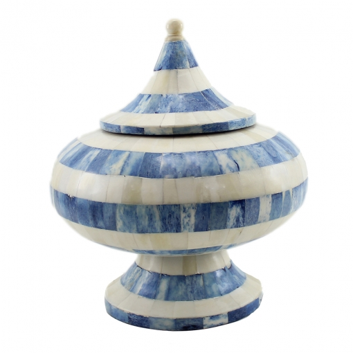 Ramya Azure Blue Decorative Lidded Jar