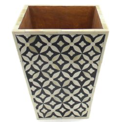 Foulard Motif Bone Inlay Basket