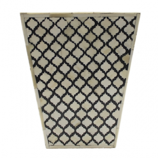 Moroccan Motif Bone Inlay Basket