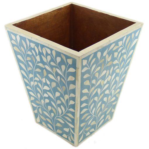 Leaves Motif Bone Inlay Basket