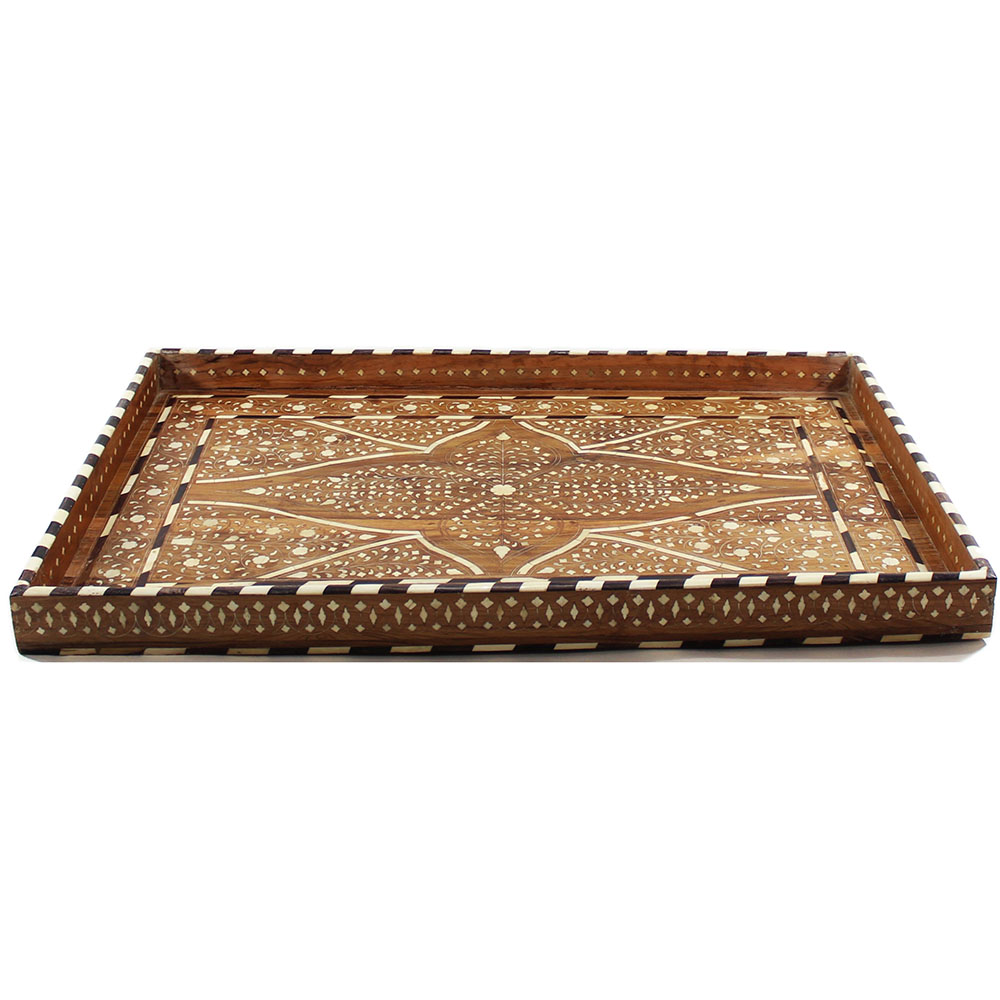 Vine decorative bone inlay wood tray roomattic for Decorative home products