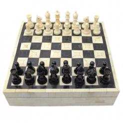 Bone & Horn Inlay Chess Set