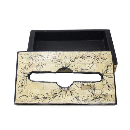 Bone Inlay Tissue Box