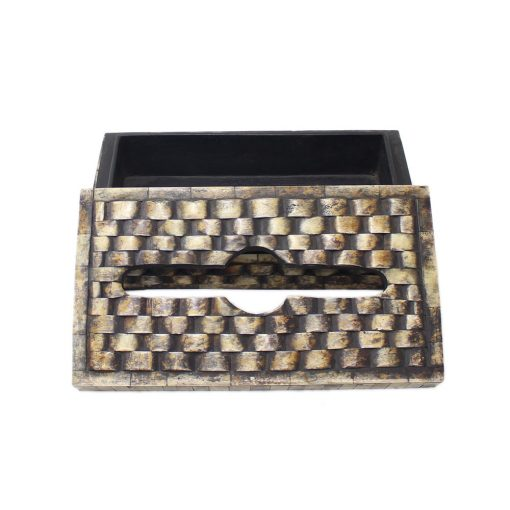 Horn Inlay Tissue Box