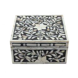 Bold Black Pearl Inlay Decorative Box