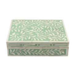 Spring Green Bone Inlay Decorative Box