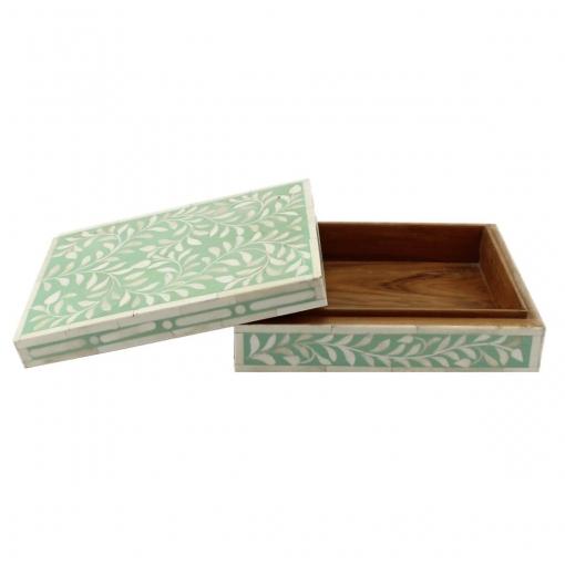 Spring Green Bone Inlay Decorative Box