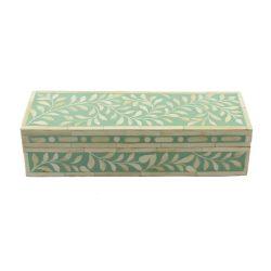 Spring Green Trinket Bone Inlay Decorative Box