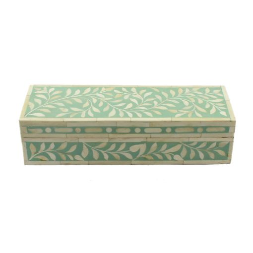 Spring Green Trinket Bone Inlay Decorative Box