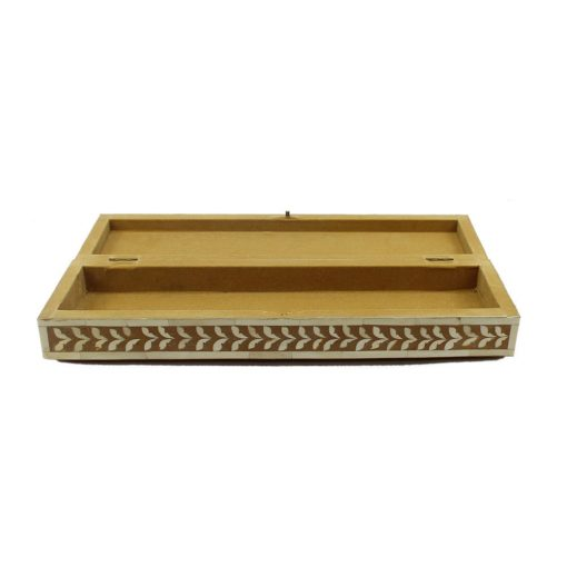 Tan Brown Trinket Bone Inlay Decorative Box