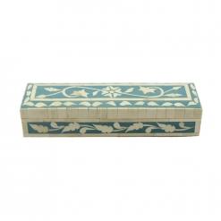 Terese Teal Bone Inlay Decorative Box
