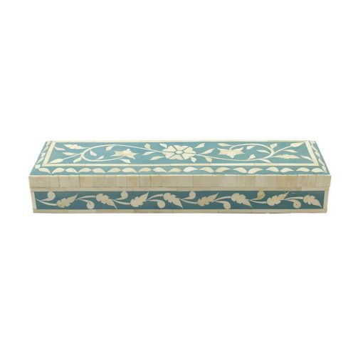 Terese Teal Bone Inlay Decorative Box
