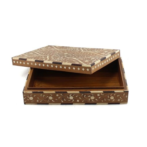 Wooden Taj Bone Inlay Decorative Box
