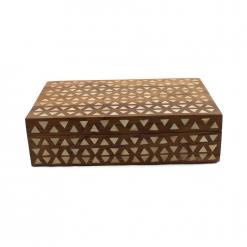 Wooden Tikona Bone Inlay Decorative Box