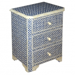 Roomattic Blue Bone Inlay Chest of Drawers Dresser Bedside Table