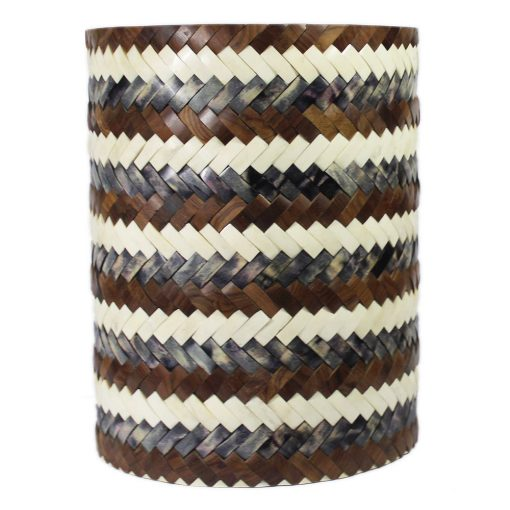 Roomattic Interwoven Bone Inlay Round Stool End Table Side Table